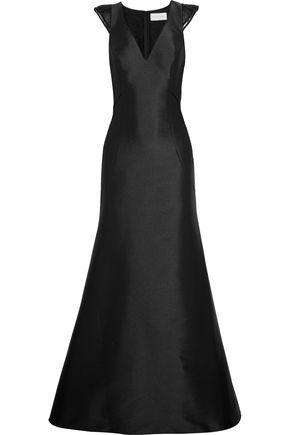SACHIN & BABI Anastasia silk-organza trimmed satin gown