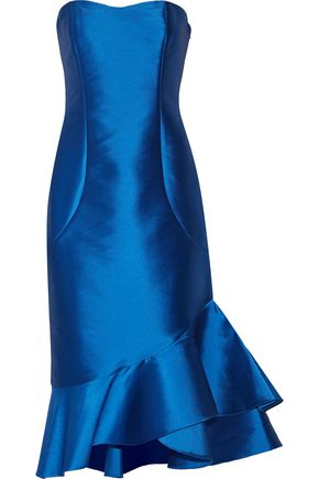Sachin & Babi Woman Cleo Asymetric Ruffled Faille Dress Bright Blue Size 2 Sachin & Babi SQMfVRJp