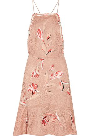 SACHIN & BABI Nadia fluted embroidered corded lace dress