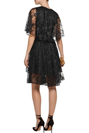 SACHIN & BABI Onassis layered corded lace dress