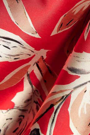 SACHIN & BABI Masha printed crepe de chine asymmetric gown