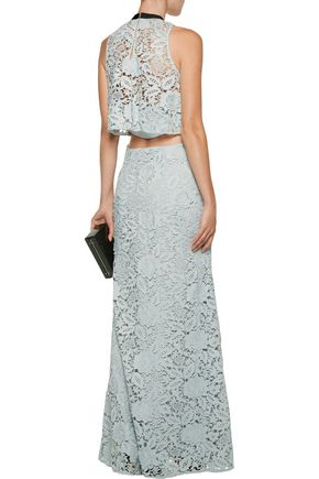 SACHIN & BABI Nina cutout appliquéd guipure lace gown