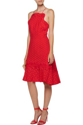 SACHIN & BABI Waltz fluted broderie anglaise cotton dress