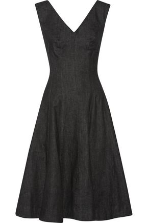 NORMA KAMALI Grace pleated denim dress