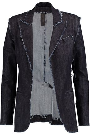 NORMA KAMALI Frayed denim jacket
