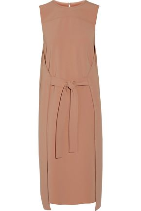 THEORY Tie-front stretch-crepe dress