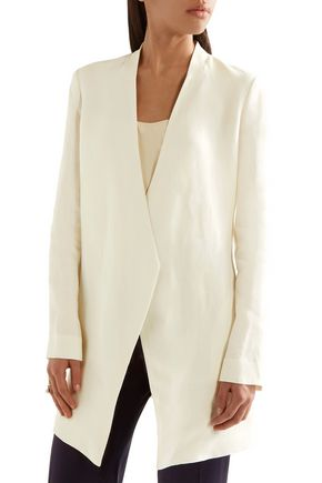THEORY Draped linen blazer