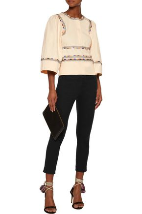 ISABEL MARANT Siloe embroidered cotton top