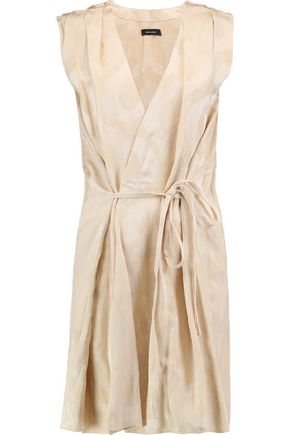 ISABEL MARANT Sudley wrap-effect satin-jacquard mini dress