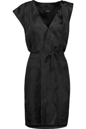ISABEL MARANT Sudley wrap-effect  satin-jacquard dress