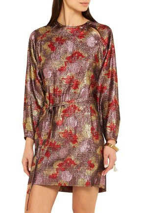 ISABEL MARANT Wensley Lurex and silk-blend lamé mini dress