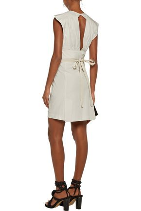 ISABEL MARANT Mina cotton-poplin wrap mini dress