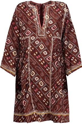 ISABEL MARANT Thurman embroidered printed silk mini dress
