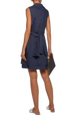10 CROSBY DEREK LAM Layered cotton-poplin mini dress