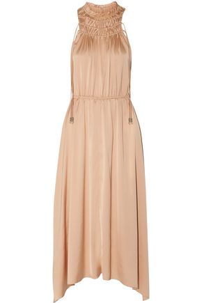 DEREK LAM 10 CROSBY Ruffled satin midi dress