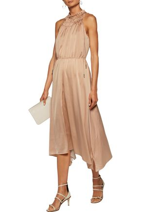 10 CROSBY DEREK LAM Ruffled satin midi dress