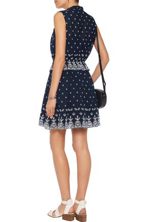 DEREK LAM 10 CROSBY Broderie anglaise mini dress