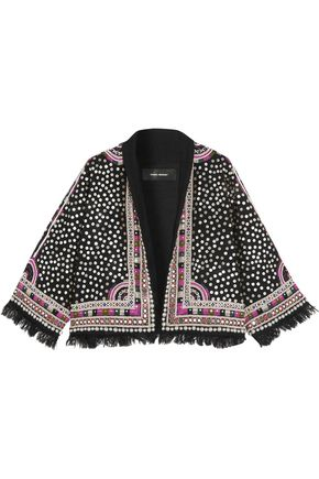 ISABEL MARANT Baikal embroidered embellished wool jacket