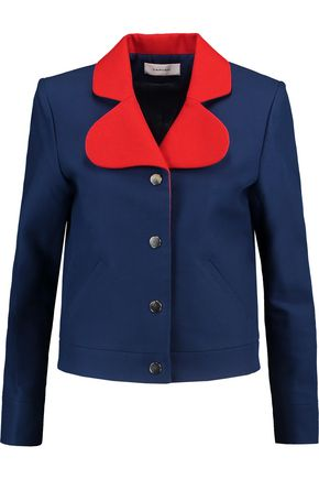 CARVEN Two-tone piqué jacket