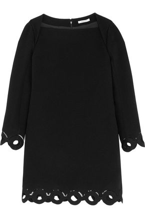 CARVEN Cutout crepe mini dress