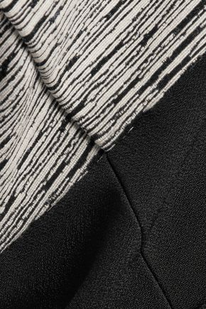 CARVEN Paneled cotton-blend mini dress