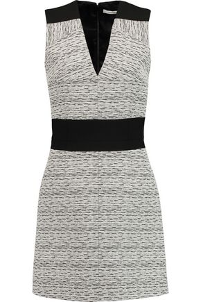 CARVEN Paneled cotton-blend mini dress