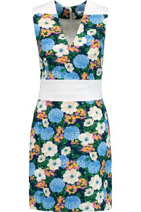 CARVEN Floral-print crepe dress