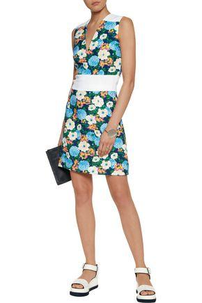 CARVEN Floral-print crepe dress