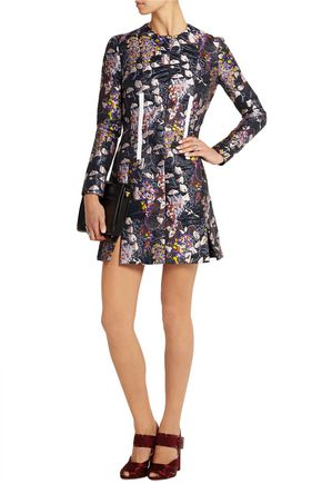 CARVEN Metallic jacquard mini dress