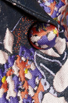 CARVEN Scuba-trimmed jacquard jacket