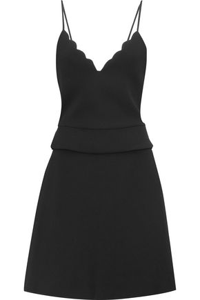 CARVEN Scalloped crepe mini dress
