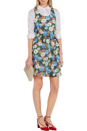 CARVEN Floral-print cotton-voile mini dress