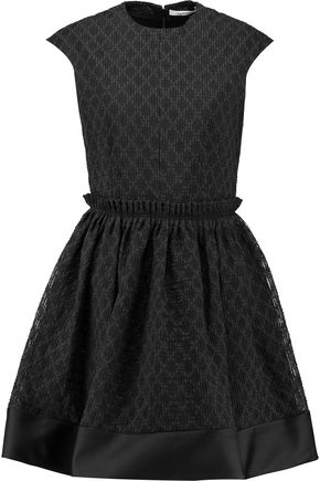 CARVEN Fantaisie cotton-blend cloqué mini dress