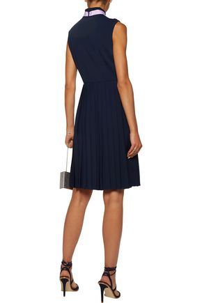 MIKAEL AGHAL Pleated crepe dress