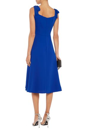 MIKAEL AGHAL Off-the-shoulder knotted crepe midi dress