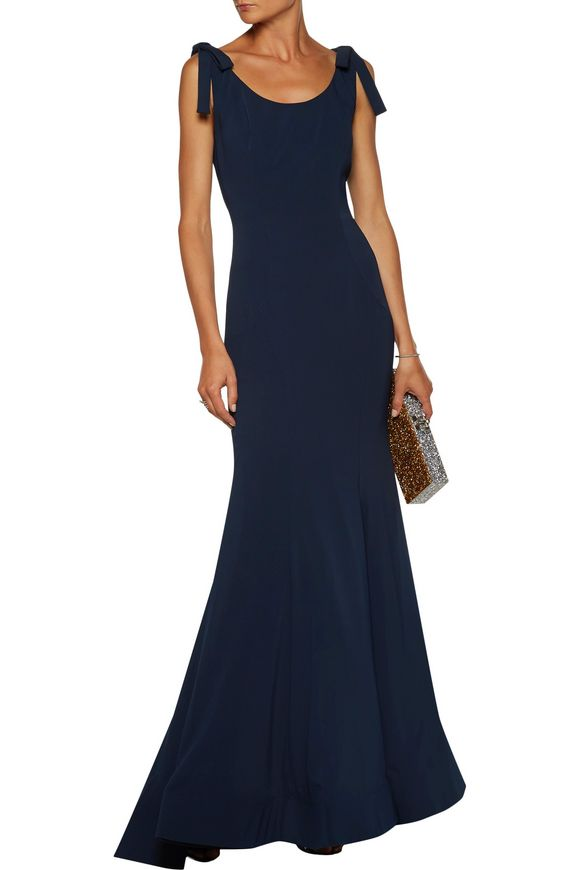 Bow-embellished fluted cady gown | MIKAEL AGHAL | Sale up to 70% off | THE  OUTNET