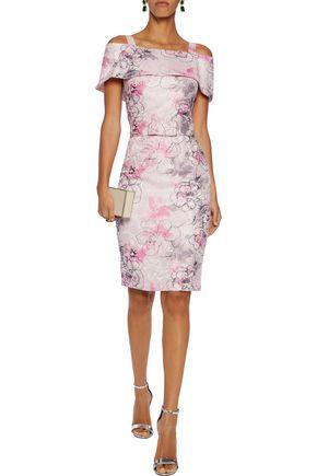 BADGLEY MISCHKA Cold-shoulder jacquard dress