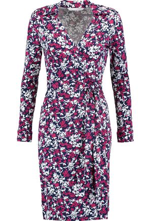 DIANE VON FURSTENBERG Jeanne printed cotton and silk-blend wrap dress