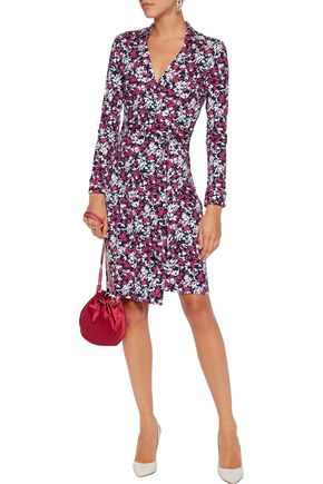 DIANE VON FURSTENBERG Jeanne printed cotton and silk-blend wrap dress