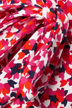 DIANE VON FURSTENBERG New Julian Two printed cotton and silk-blend wrap dress