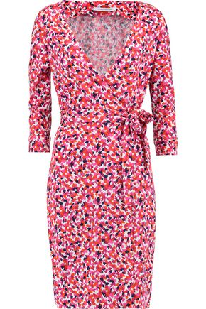 DIANE VON FURSTENBERG New Julian Two printed cotton and silk-blend wrap dress