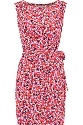 DIANE VON FURSTENBERG Della printed cotton and silk-blend mini dress