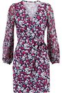 DIANE VON FURSTENBERG Signourney printed cotton and silk-blend mini wrap dress