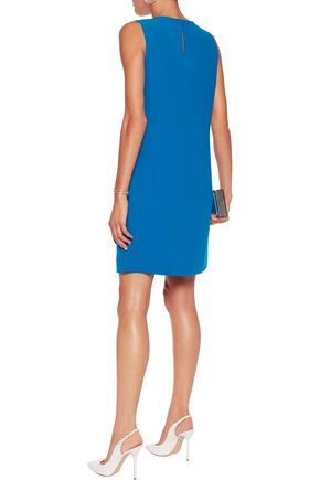 DIANE VON FURSTENBERG Draped twill mini dress