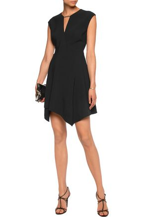 HALSTON HERITAGE Embellished crepe mini dress