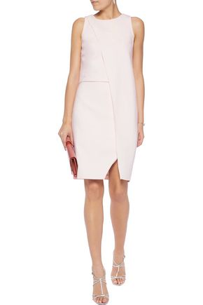 HALSTON HERITAGE Layered twill dress