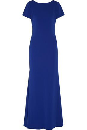 BADGLEY MISCHKA Fluted pleated cady gown