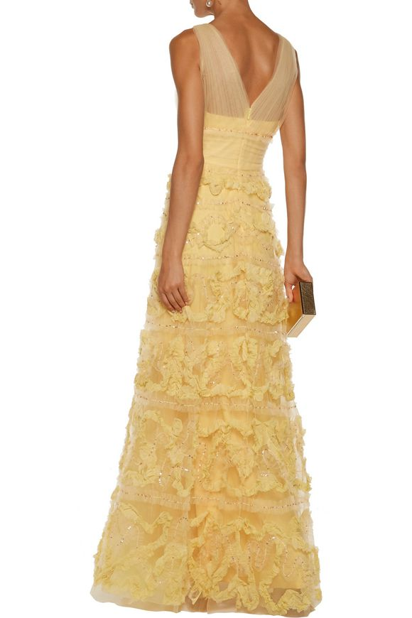 Fil coupé-trimmed tulle gown | MARCHESA NOTTE | Sale up to 70% off | THE  OUTNET