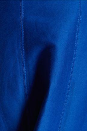 HALSTON HERITAGE Cotton and silk-blend halterneck mini dress