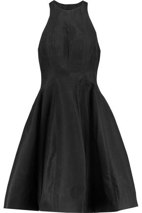 HALSTON HERITAGE Satin-jacquard mini dress